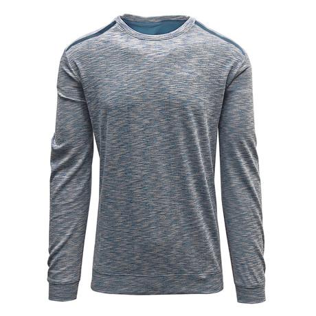 Rockwell Sweater // White + Slate Blue (S)