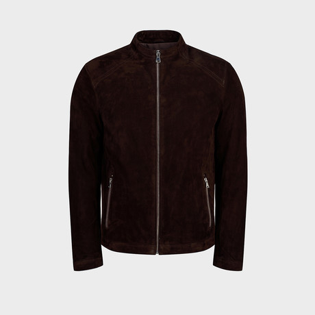 Dexter Blouson Leather Jacket // Brown (S)