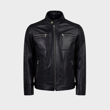 Harley Biker Leather Jacket // Black (S)