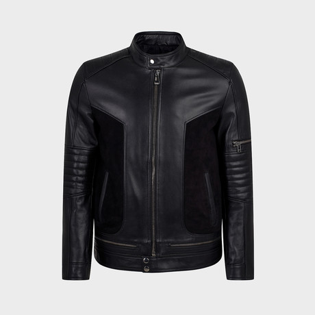Gunner Blouson Leather Jacket // Black (S)