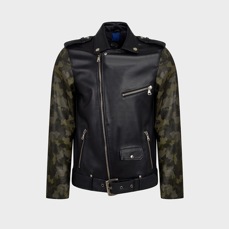 Rocco Biker Leather Jacket // Black (S)