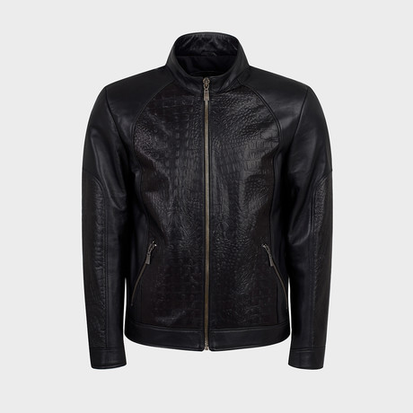 Axel Biker Leather Jacket // Black (S)