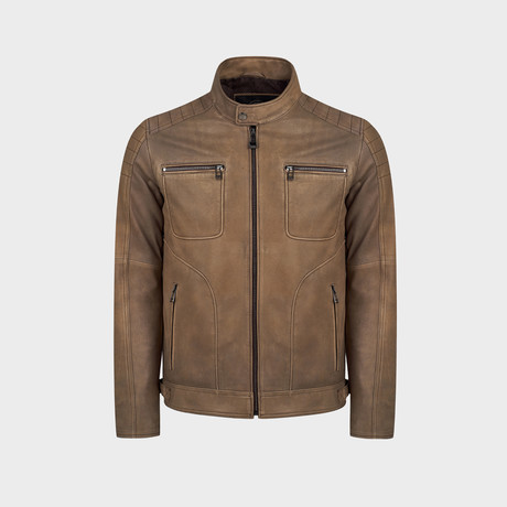 Harley Biker Leather Jacket // Mink (S)