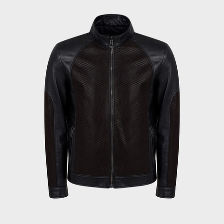 Kace Blouson Leather Jacket // Black (S)