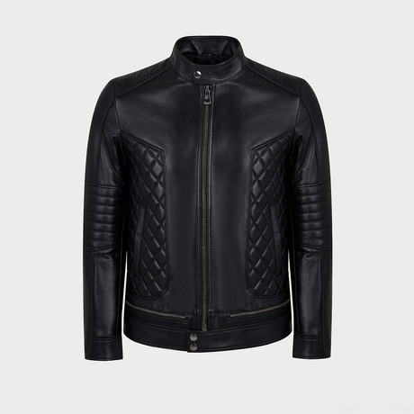 Pierce Blouson Leather Jacket // Black (S)