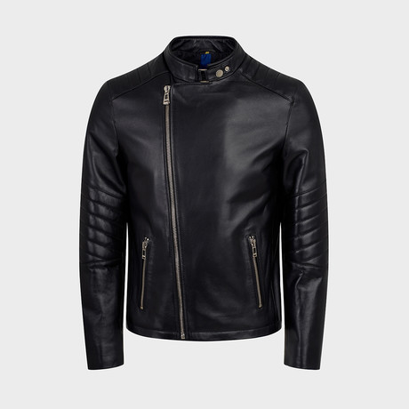 Cadmus Blouson Leather Jacket // Black (S)