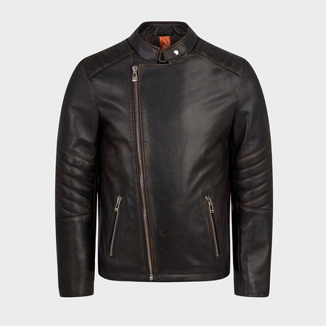 Cadmus Blouson Leather Jacket // Oiled Brown (S)