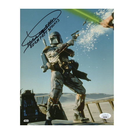 """Autographed Topps Photo // Star Wars """"Boba Fett"""" // Dickey Beer"""