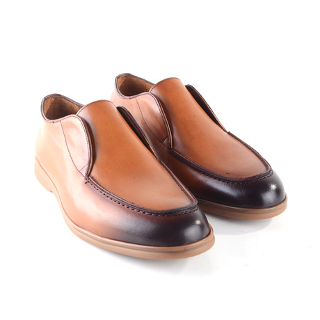 Soft Leather High Vamp Loafer // Tan (US: 7)