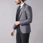 Jesse 3-Piece Slim Fit Suit // Smoked (Euro: 46)
