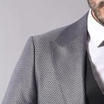 Jesse 3-Piece Slim Fit Suit // Smoked (Euro: 54)