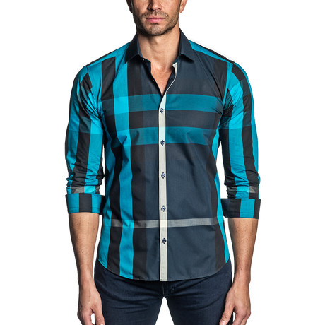 Johnny Button-Up // Navy Multicolor Plaid (S)