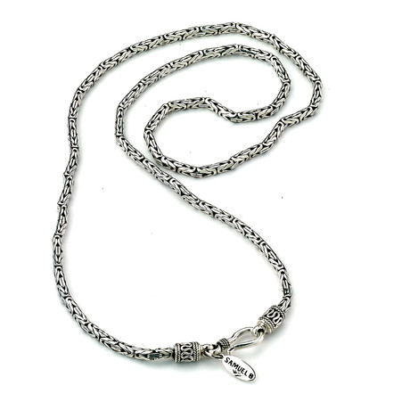 """Sterling Silver Byzantine Chain Necklace // 2.5mm (18"""" // 21.5g)"""