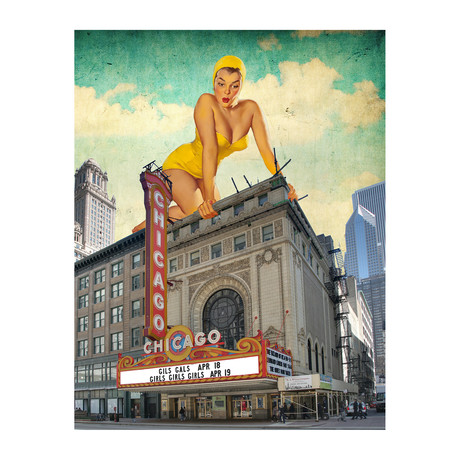 "Chicago Pinup (11""x14"")"