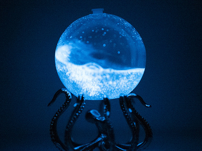 photo of Bioluminescent Bio-Orb + OctoStand by Touch Of Modern