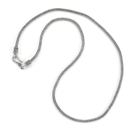 "Sterling Silver Tulang Naga Chain Necklace // 2.5mm (18"" // 16.39g)"