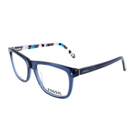 Men's 6052 MBA Optical Frames // Transparent Blue Graphic