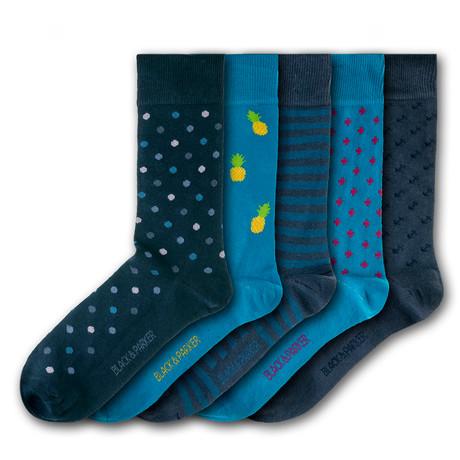 Knoll Gardens Socks // Set of 5