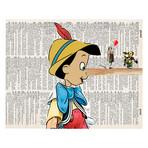 Pinochiknows 4-Piece Quadriptych w/ Magnifying Glass