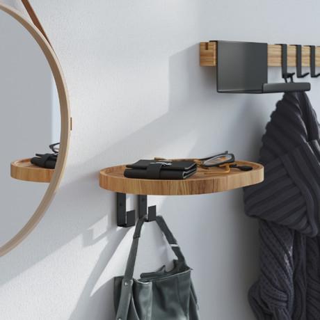 Woody 2 Wall Mounted Coat Rack + Shelf