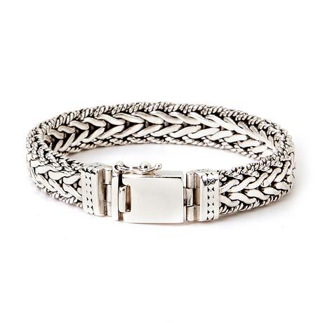 """Woven Dot Design Bracelet // 12mm (8"""" // 78g)"""
