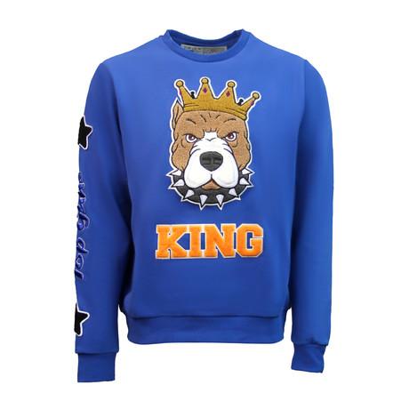 King Crewneck // Royal (S)