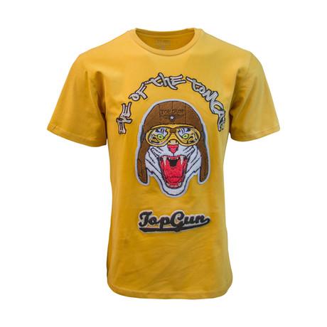 Eye Of The Tomcat' Tee // Mustard (S)