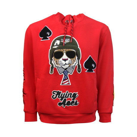Flying Aces Hoodie // Red (S)