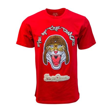 Eye Of The Tomcat' Tee // Red (S)