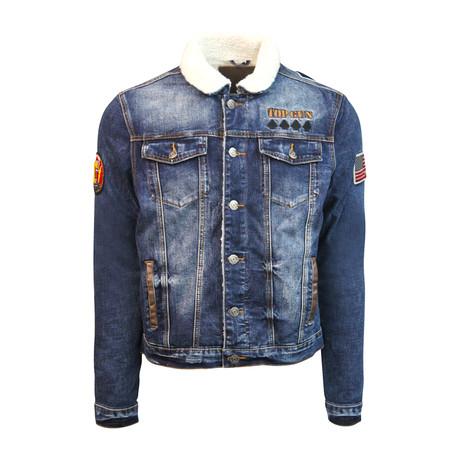 Lined Denim Jacket // Blue (S)