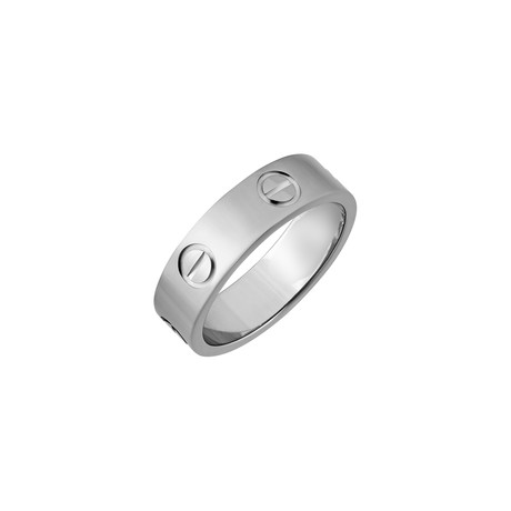 Cartier 18k White Gold Love Ring // Ring Size: 4.25 // Pre-Owned