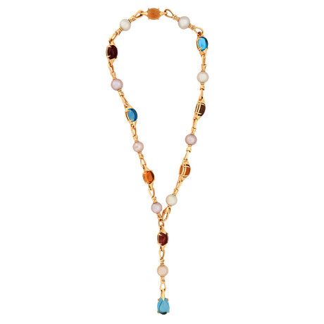 Bulgari 18k Yellow Gold Multi-Stone Necklace // Pre-Owned