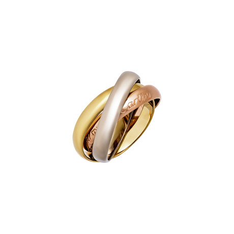 Cartier 18k Three-Tone Gold Le Must Trinity Small Ring // Ring Size: 5.25 // Pre-Owned
