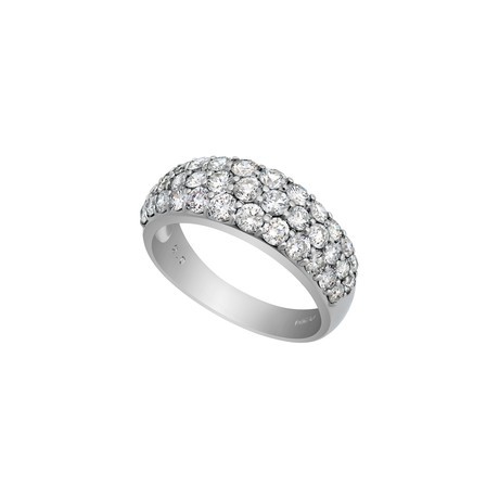 Estate Platinum 3 Row Diamond Ring // Ring Size: 8 // Pre-Owned
