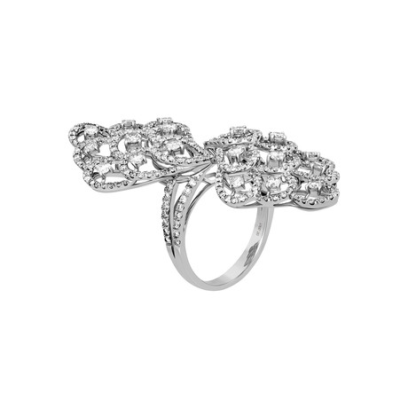 Estate 18k White Gold Large Diamond Ring // Ring Size: 6.5 // Pre-Owned