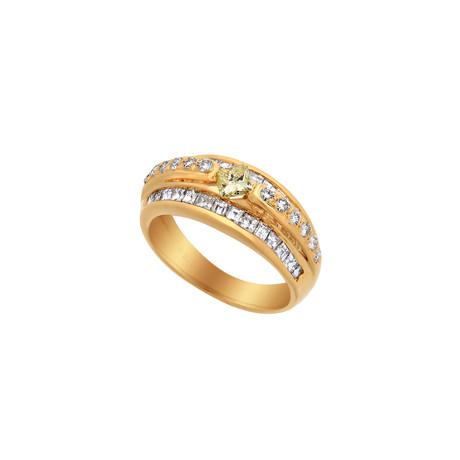 Estate 18k Yellow Gold Diamond Ring // Ring Size: 6.25 // Pre-Owned