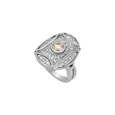 Estate Platinum Diamond Ring // Ring Size: 6.75 // Pre-Owned