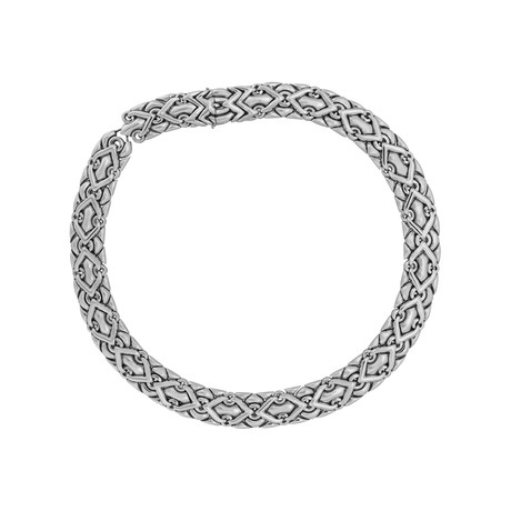 Bulgari 18k White Gold Trika Necklace // Pre-Owned