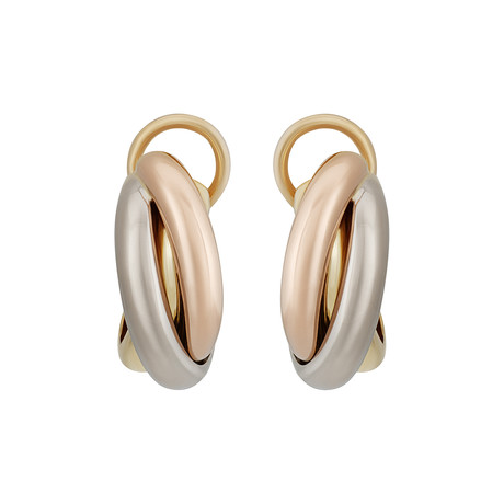 Cartier 18k Three-Tone Gold Trinity Earrings // Pre-Owned