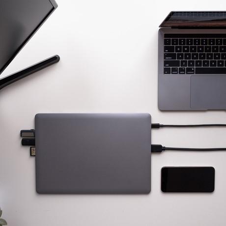 LINEDOCK // External Battery // 9 Ports Hub // 256 GB Storage (Matte Black)