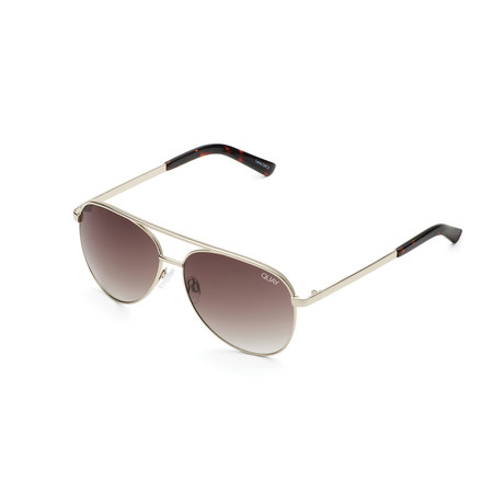 Unisex Vivienne Sunglasses // Gold + Brown