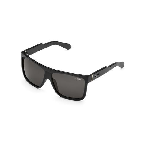 Men's Barnun Polarized Sunglasses // Shiny Black + Smoke