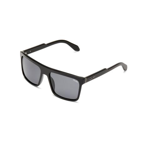 Men's Let It Run Polarized Sunglasses // Matte Black + Smoke