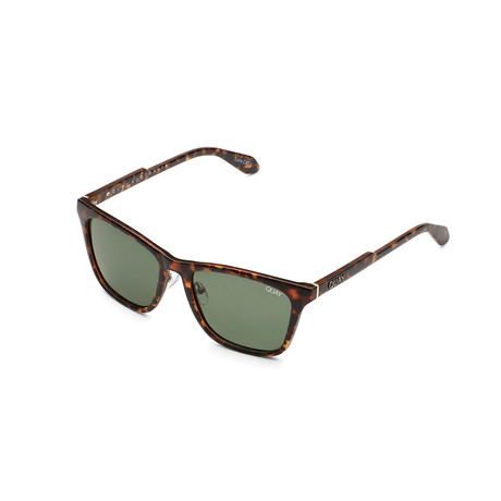 Unisex Reckless Polarized Sunglasses // Tortoise + Green