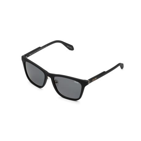 Unisex Reckless Polarized Sunglasses // Matte Black + Smoke