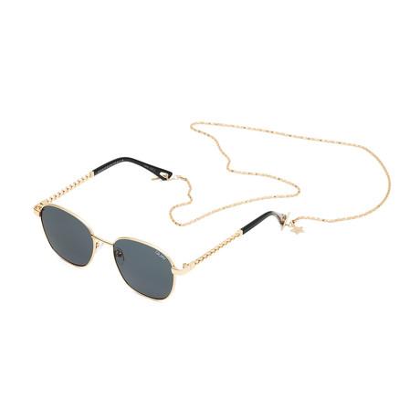 Unisex Link Up Polarized Sunglasses // Gold + Smoke