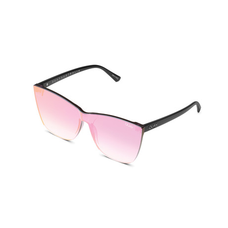 Women's Come Thru Sunglasses // Black + Pink