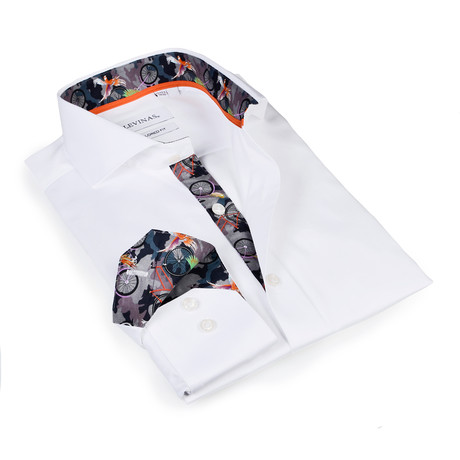 Hunter Button-Up Shirt // White Camouflage (S)