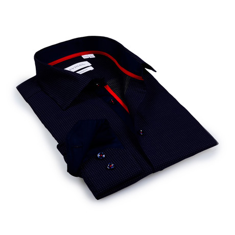 Carter Button-Up Shirt // Navy (S)