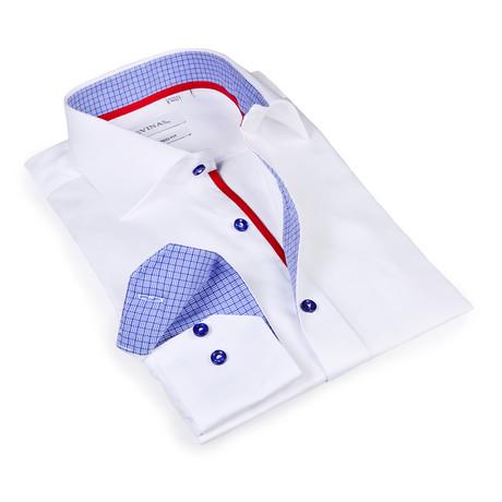 Eli Button-Up Shirt // White + Blue (S)